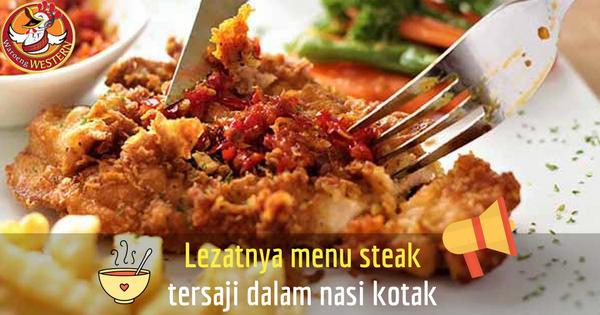 Lezatnya Menu Steak Tersaji dalam Nasi Kotak Murah Jakarta